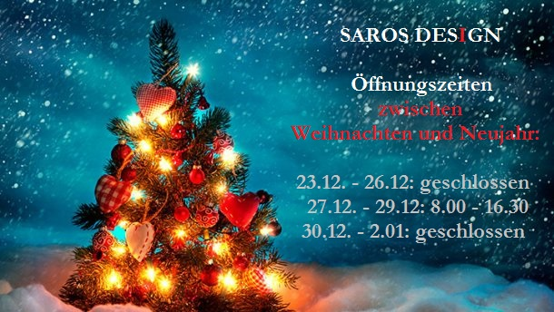 christmas and new year opening times saros est. Black Bedroom Furniture Sets. Home Design Ideas
