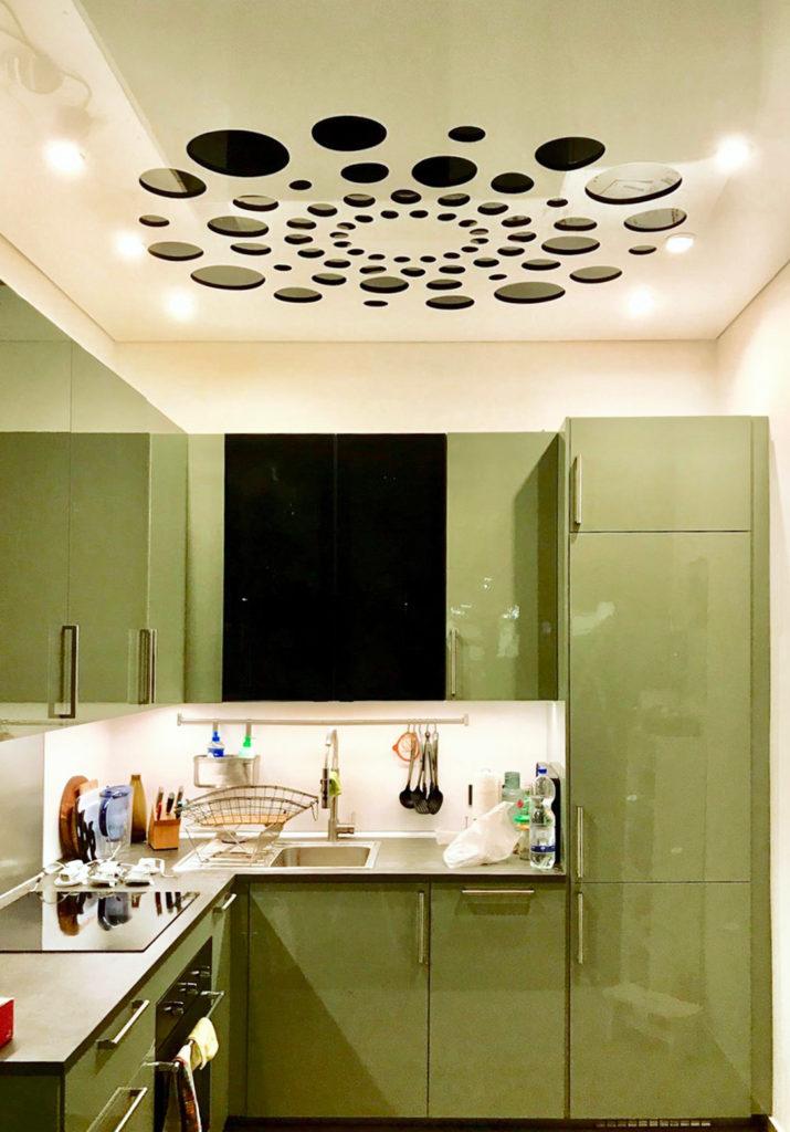 Plafond tendu sculpté dans la cuisine