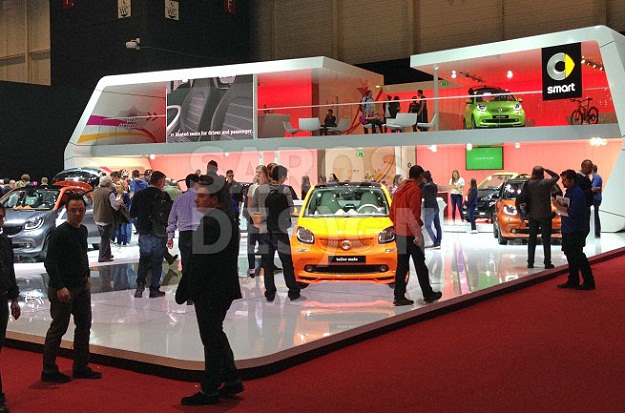 Stretch ceiling on Geneva motor show 2015, Geneva, Switzerland