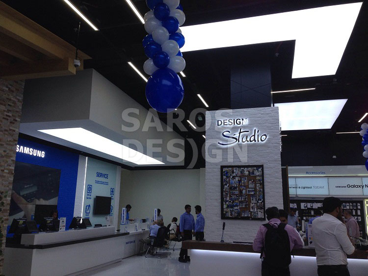 Saros Design ceilings at Dubai Mall