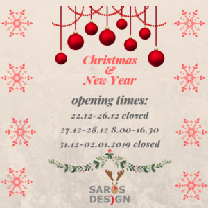 Cristmas and New Year opening times