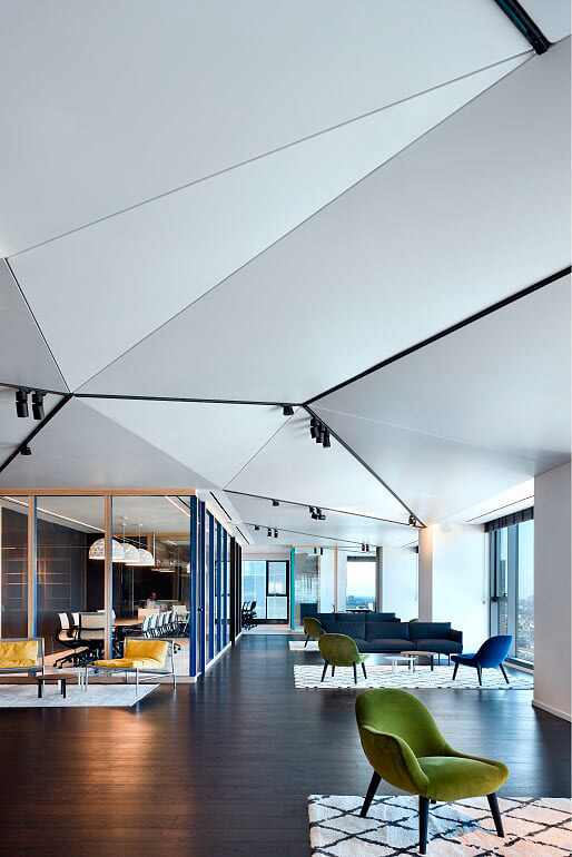 white-satin-triangular-ceilings-office-image-9